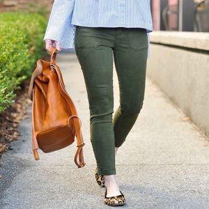 J. Crew Skinny Cargo Pants Jeans Army Green 25